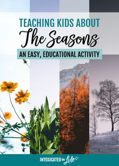 Easy lessons on how to teach the kids about our 4 seasons: an easy, educational activity Kids Activities At Home, Seasons Activities, Educational Activities, Seasons Lessons, Seasons Song, Astronomy Facts, Homeschool Curriculum, Homeschooling, Good Night Moon