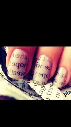Newspaper transfer nails