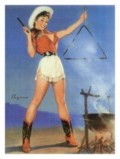 Pin-up Art Postcard Gil Elvgren Sexy Busty Cow Girl Short Skirt Cowboy Boots Pin Up Vintage, Cowgirl Vintage, Vintage Soul, Vintage Art, Pinup Art, Gil Elvgren, Cow Girl, Cow Boys, Pin Up Girls