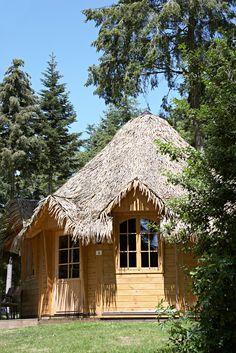 Cottage'hutte, camping, vacances, domaine des ormes, séjour, bretagne