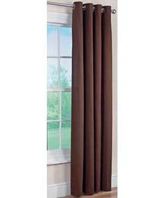 ColourMatch Lima Ring Top Curtains - 117x183cm - Chocolate.