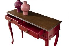 Consola Breda Rosu/Nuc Best Sellers, Office Desk, Entryway Tables, Console, Shabby Chic, Furniture, Home Decor, Desk Office, Decoration Home