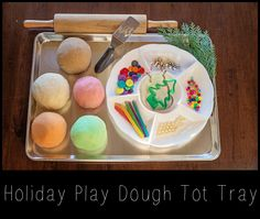 Cookie decorating tot tray