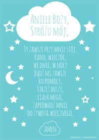 Darmowy plakat - Modlitwa Aniele Boży Diy And Crafts, Crafts For Kids, Power Of Prayer, Baby Time, Project Life, Baby Room, Everything, Activities For Kids, Kids Room