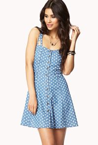 Love this button up dress.