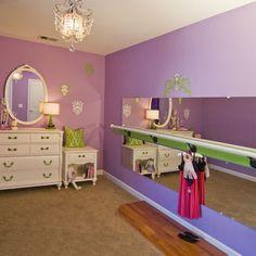 Girls Bedroom Decorating Ideas with Ballet Studio Mirror - Top Home Design… Bedroom Themes, Girls Bedroom, Bedroom Decor, Bedroom Ideas, Bedrooms, Bedroom Designs, Home Design, Interior Design, Design Ideas