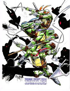 IDW TMNT - Limited Color Sketch  by Ben Bates