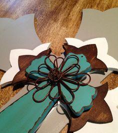 Large 4 Tier Wooden Decorative Wall Cross by ElizabethLaneBoutiqu, $75.00
