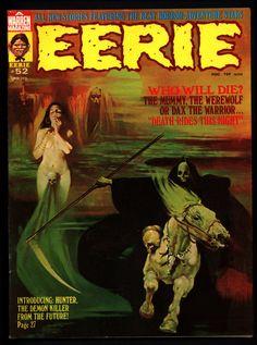 EERIE #52 The HUNTER DAX Maroto Dracula Werewolf Mummy Vintage Classic Horror Comic Warren Magazine Sanjulian