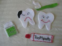 Happy Brushing Felt Story Board Teeth by SimplyStephanieK5 on Etsy