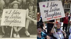 Frances Goldin, a 93-year-old mother of two lesbian women, has been carrying the same 'I Adore My Lesbian Daughters' sign at NYC Pride since 1971.