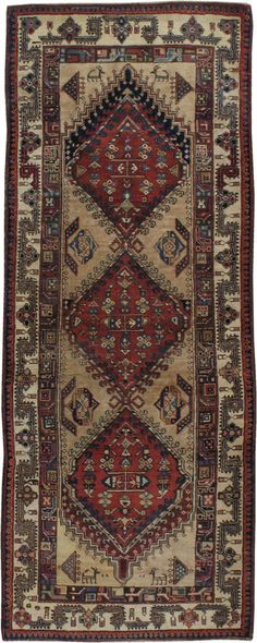 Antique Persian Serab Rug, No. 12944 - 2ft. 10in. x 7ft. 4in.
