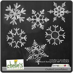 Chalked {snowflakes}