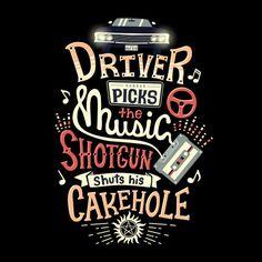 Supernatural Driver Picks the Music T-Shirt