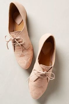 Latigo Junebug Oxfords Nude Oxfords #anthrofave #anthropologie