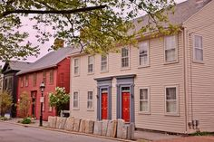 Colonial houses in Providence, Rhode Island
