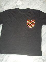 Maryland flag pocket tee