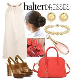 """""""White Halter Dress"""" by stylishdirectioner on Polyvore featuring OPI, Coast, MICHAEL Michael Kors, DKNY, Bloomingdale's, Blue Nile, Christian Dior and halterdresses"""