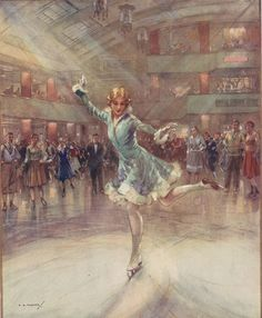 """""""On the Rink"""" by Charles E.Turner, 1931"""