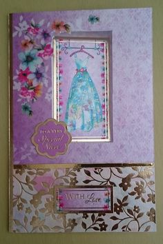 Handmade C6 Greeting Card  Niece by BavsCrafts on Etsy