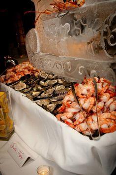 Spectacular seafood display