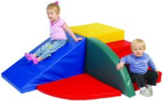 Corner Climber w/slide & wedge Childcare supply for daycare, preschool and kindergarten classrooms.