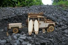 Your place to buy and sell all things handmade Laser Cutter Ideas, 3d Puzzles, Popsicle Sticks, Garden Crafts, Outdoor Projects, 3 D, Land Rovers, Buses, Etsy