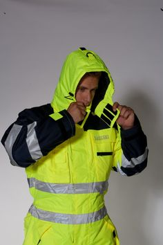 Ocean Thermo Ademende Thermische Overall - Workplanet. Sweater Jacket, Rain Jacket, Ski Suit Mens, Hi Vis Workwear, Union Suit, Puffer Jackets, Backpack Bags, Work Wear, Menswear