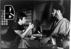 Bruce And Kareem Abdul Jabber On Set Of Game Of Death.