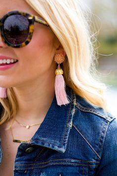 More Is More According To The Runway's Biggest Jewelry Trends - Cute Pretty In Pink Pastel Tassel Dangle Earrings Jewellery