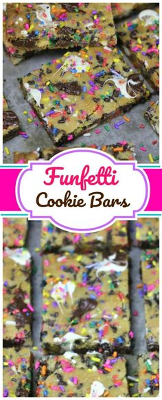 Funfetti Party Cookie Bars - These funfetti blondie bars are buttery, chewy and chocked full of sprinkles, semi-sweet chocolate chips, vanilla chocolate chips and they're absolutely party-worthy!