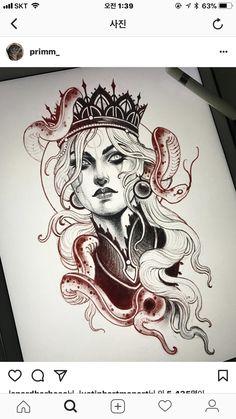 Neo Tattoo, Dark Art Tattoo, Tattoo Drawings, Body Art Tattoos, Art Drawings, Tattoo Sketches, Tattoo Flash, Tattoo Ink, Neo Traditional Art