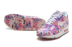 Nike Air Max 90 Floral Purple/pink/wild rose via MFancy Boutique. Click on the image to see more!