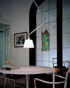Tolomeo 17 Inch Off Center Suspension by Artemide Interior Desing, Interior Architecture, Pendant Lamp, Pendant Lighting, Ceiling Lamp, Ceiling Lights, Italian Lighting, Lamp Light, Diffuser