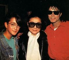Sean Lennon, Yoko Ono & Michael Jackson :) He always loved babies and all children of the world ღ by ⊰@carlamartinsmj⊱