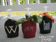 brown paper packages: {soap...all dressed up}