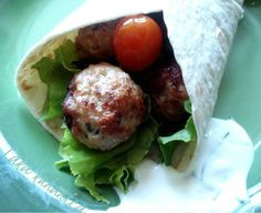 Turkey meatballs tortilla wrap recipe - Foodista.com