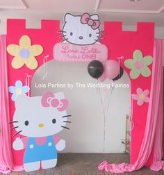 hello kitty party ideas | Lola Parties provides personalized deco for your party !