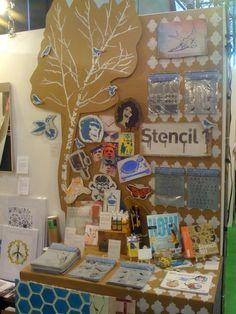 Stencil Stationery Display