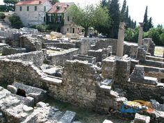 Chorvatsko - Split - vykopávky v městě Soline