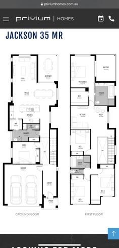 Single Storey House Plans, Narrow House Plans, Modern House Floor Plans, Usa House, Gate House, Floor Layout, Decoration, Ground Floor, Future House