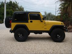 bchjeep 2001 Jeep TJ Specs, Photos, Modification Info at CarDomain Yellow Jeep Wrangler, 2001 Jeep Wrangler, Blue Jeep, Jeep Tj, Jeep Wrangler Unlimited, Jeep Cars, Jeep Truck, Yellow Car, Mellow Yellow