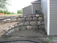 landscape of boulder walls Architectural Landscape Design