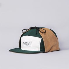 Flatspot - The Quiet Life Lodge Hunter 5 Panel Cap Green / Grey / Amber