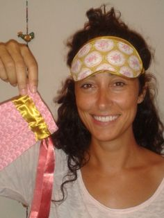 Un antifaç per a la Su! A sleeping mask for Su! Marieta. #diy #sewing #ifilgood