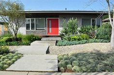 Doug Shemer of Groundswell Landscape Architecture replaced his front lawn with drought-tolerant plants. The contemporary house is included on the Mar Vista Green Garden Showcase on April 20.