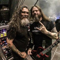 """Tom Araya and Gary Holt"" love Gary's shirt XD"