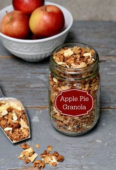 Apple Pie Granola is such a delicious, healthy breakfast or snack recipe. You won't be able to stop eating it!