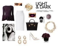 """""""The Queen of Lightness and Darkness"""" by givenchylife ❤ liked on Polyvore featuring Alexander McQueen, L'Wren Scott, Gianvito Rossi, Oscar de la Renta, Christian Dior, Versace, Anna Sui, GE, Hervé Gambs and women's clothing"""