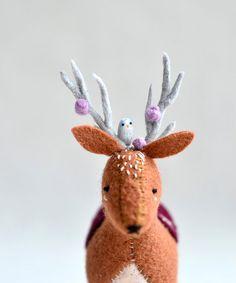 royal+woodland+deer++deer+soft+sculpture+by+MountRoyalMint+on+Etsy,+$92.00